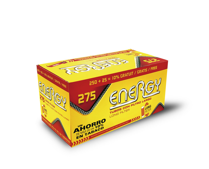 275 TUBOS X- LONG ENERGY - PACK 4 ESTUCHES