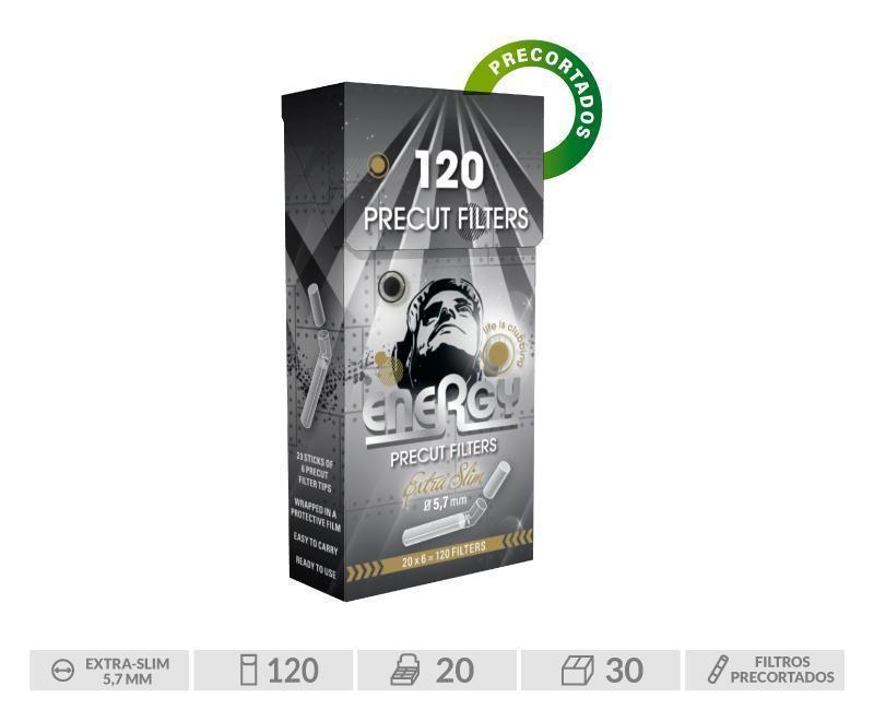 PACK 20 CAJITAS ENERGY PRE-CUT FILTER TIPS POPTIP