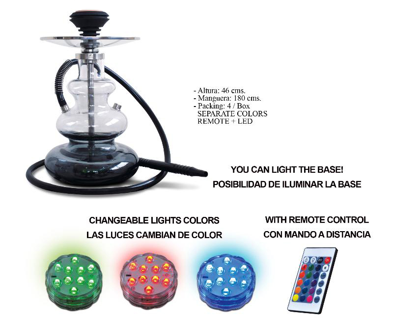 KARMA SHISHA SERIE WAVY WITH COLOURED BOTTOM