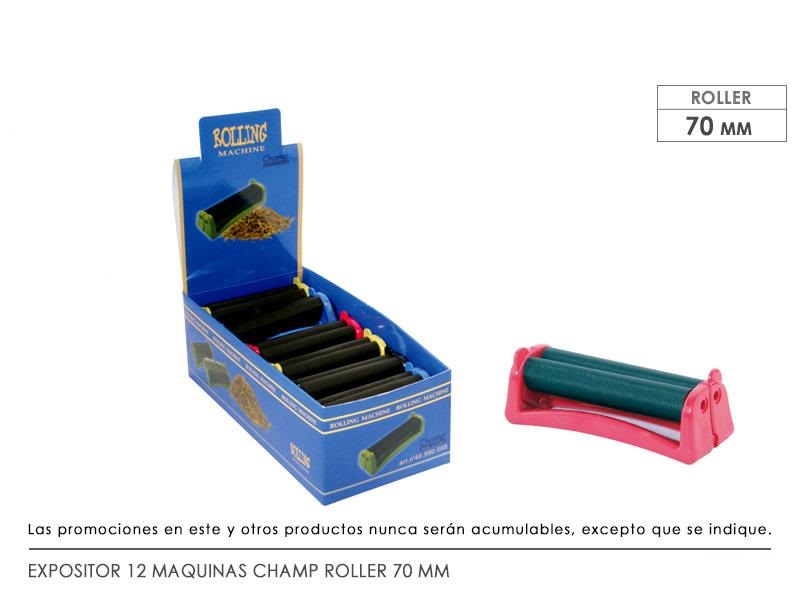 EXP 12 MAQUINAS CHAMP ROLLER 70 MM PLASTICO