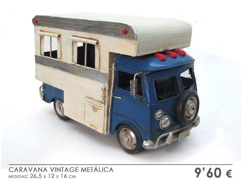 CARAVANA AZUL BLANCA - MINIATURA VINTAGE