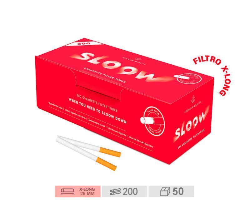 200 TUBOS X-LONG SLOOW - CAJON 50 ESTUCHES