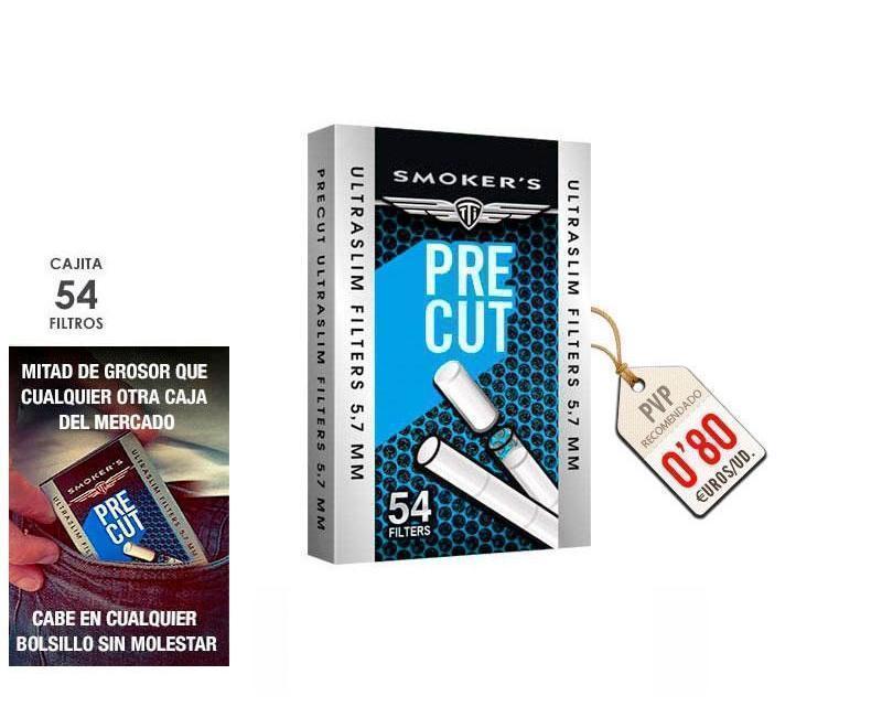 FILTROS PRECUT SMOKERSTTI 5.7 MM: PACK 20 CAJAS