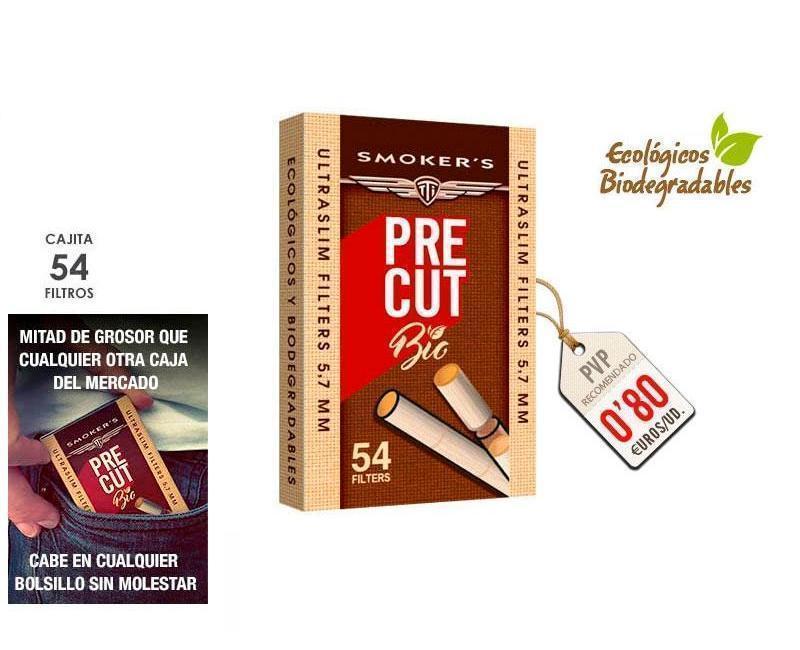 FILTROS PRECUT SMOKERSTTI 'BIO': PACK 20 CAJAS