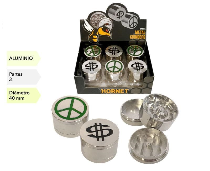 EXP 12 GRINDER METAL DOLLAR PAZ 3P 40MM