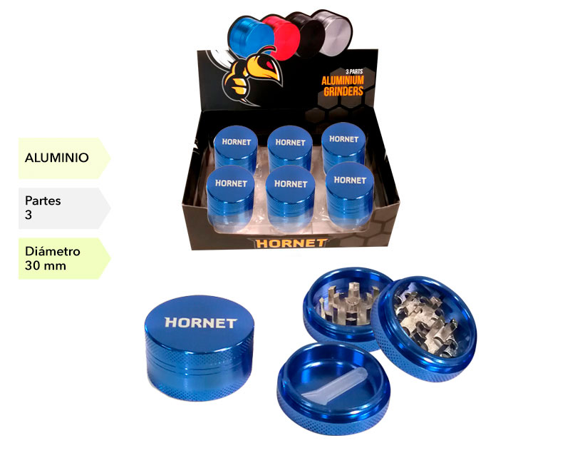 EXP 12 GRINDER HORNET ALUMINIO AZUL 3P 30MM