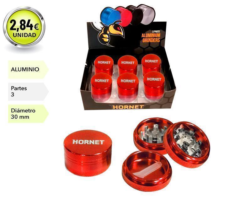 EXP 12 GRINDER HORNET ALUMINIO ROJO 3P 30MM