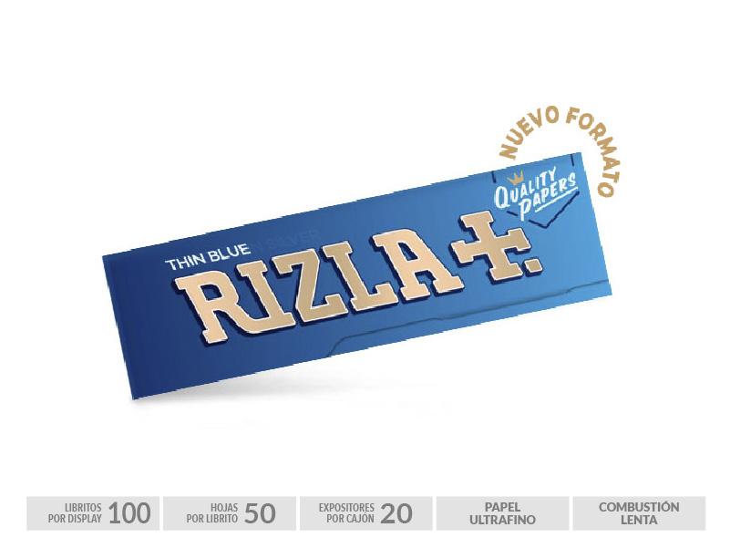 EXP 100 RIZLA BLUE 70mm NEW