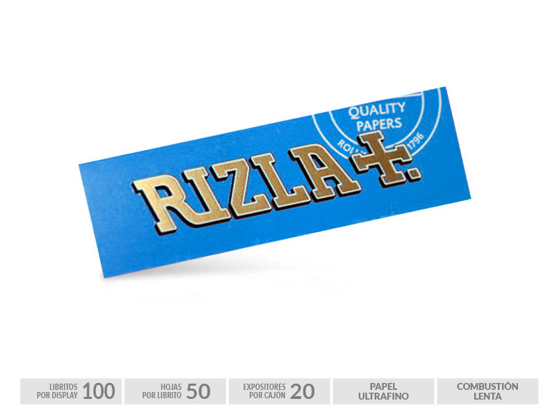 EXP 100 RIZLA BLUE 70mm