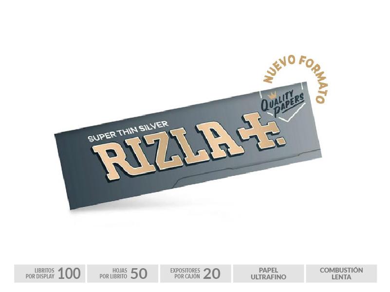 EXP 100 RIZLA SILVER 70mm  NEW