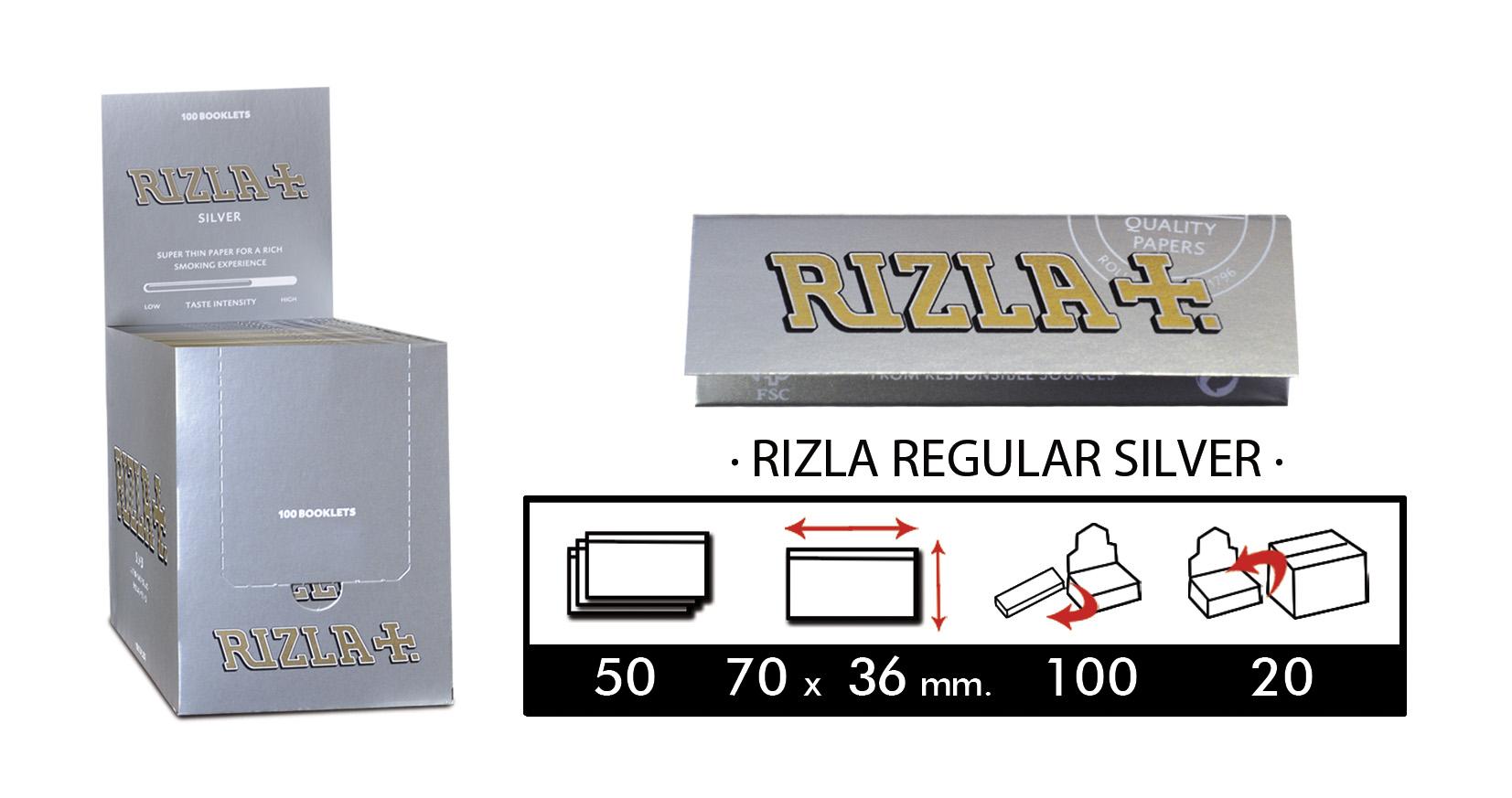 EXP 100 RIZLA SILVER 70mm