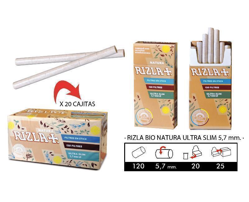 EXP 20 RIZLA BIO NATURA FILTROS ULTRA SLIM 5,5mm