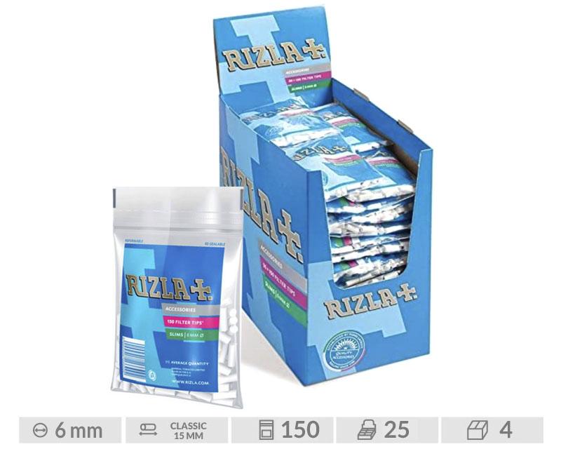EXP 25 RIZLA FILTROS SLIM 6MM BOLSA / 25UDS
