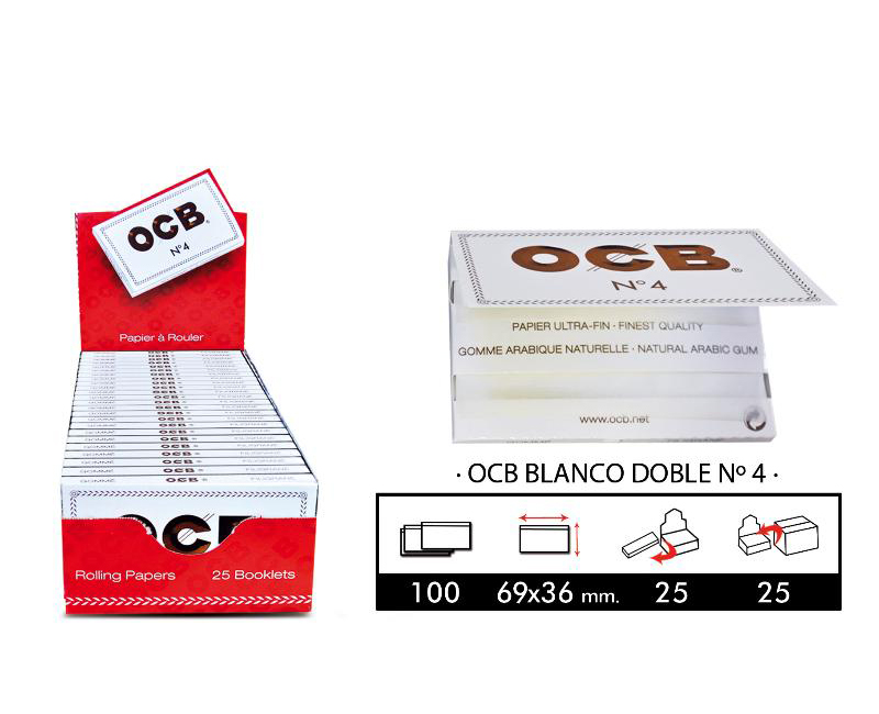 EXP 25 OCB BLANCO DOBLE Nº4
