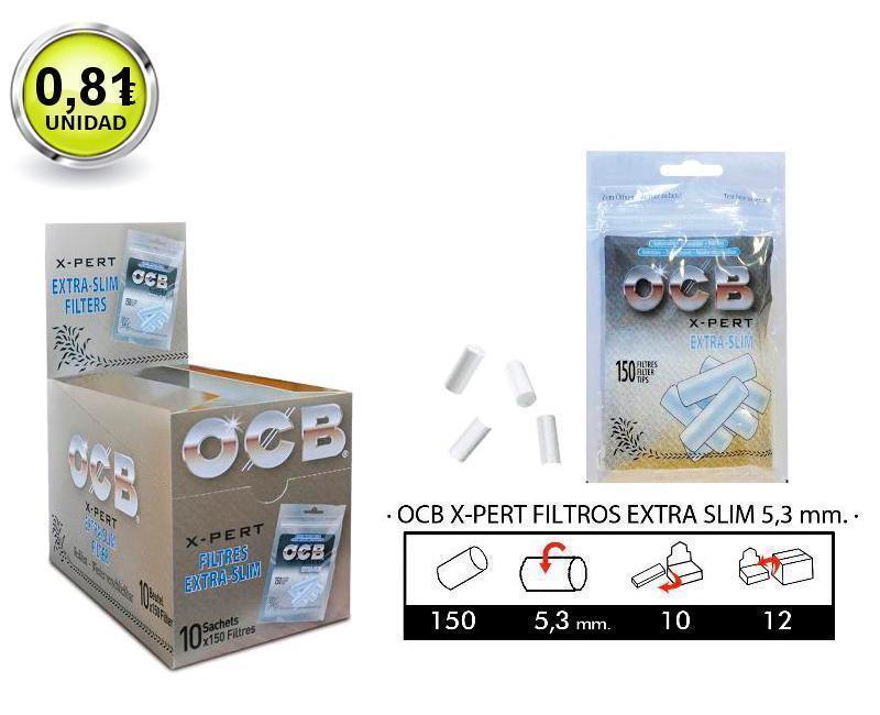 EXP 10 OCB X-PERT FILTROS EXTRA-SLIM 5,3mm