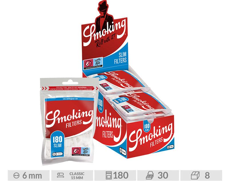 EXP 30 SMOKING FILTROS SLIM 6mm/180