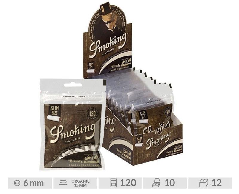 EXP 10 SMOKING BROWN SLIM FILTERS (120 FILTERS)