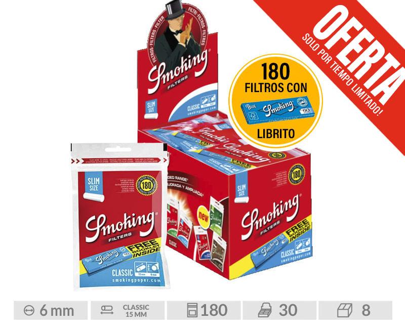 EXP 30 SMOKING  F.SLIM CLASSIC 180 + LIBRITO BLUE