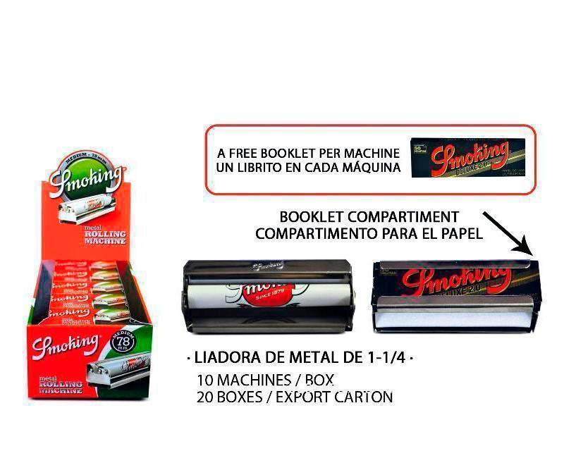 EXP 10 SMOKING LIADORA METAL 78MM+ LIBRITO DELUX