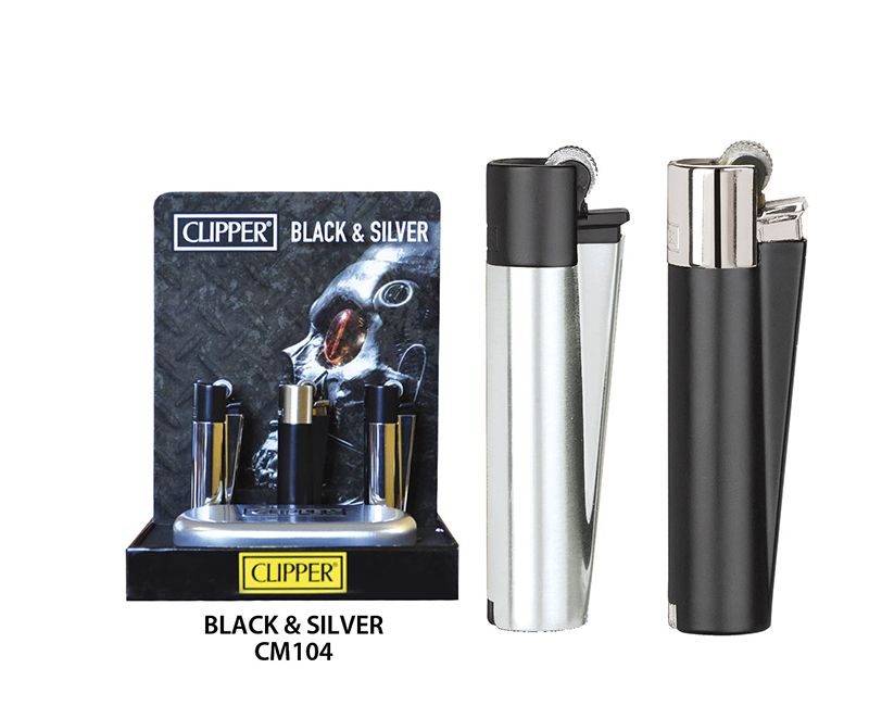 EXP 12 CLIPPER METAL BLACK AND SILVER CM104