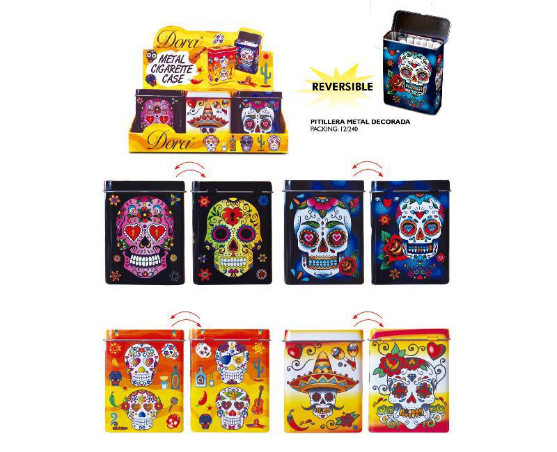 DORA EXP 12 PITILLERA METAL MEXICAN SKULL