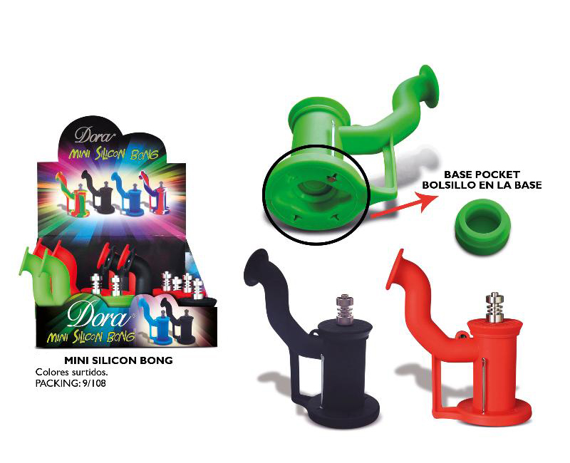DORA EXP 9 SILICONE BONG TEA POT SHAPE WITH HIDDEN