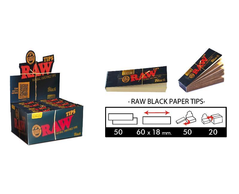 EXP 50 RAW BLACK TIPS