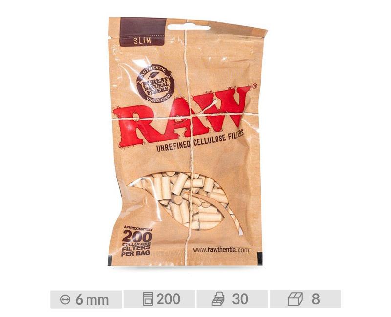 EXP 30 RAW FILTERS  CELULOSA SLIM 6mm/200