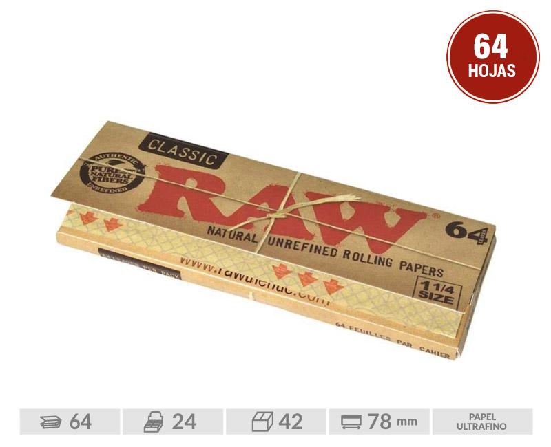 EXP 24 RAW BOOKLET 1 1/4  (DE 64 HOJAS POR LIBRITO