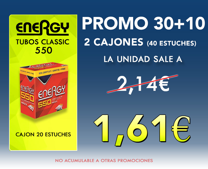 550 TUBOS ENERGY (36+4)