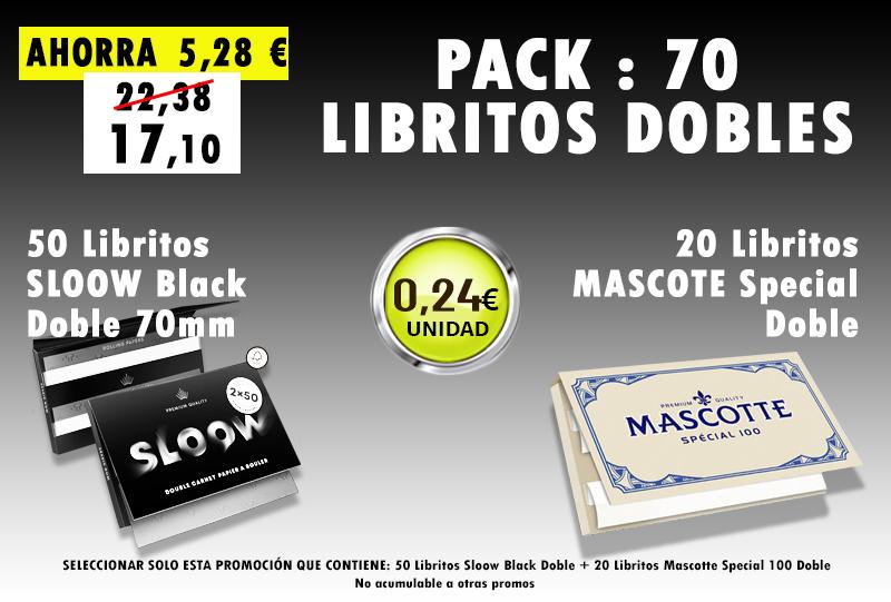 70mm DOBLE 70 LIBRITOS SLOOW + MASCOTTE
