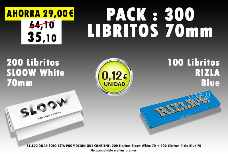 70mm 500 LIBRITOS SLOOW + RIZLA BLUE