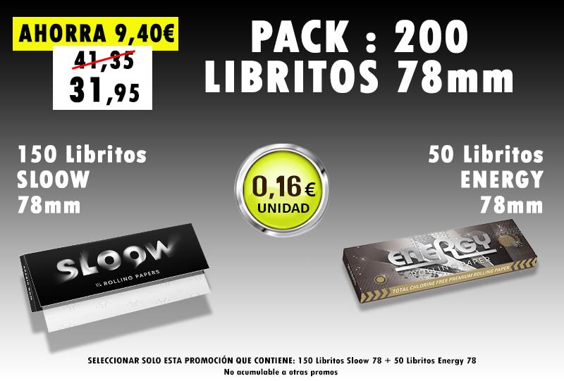 78mm 200 LIBRITOS SLOOW + ENERGY