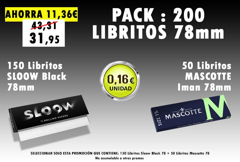 78mm 200 LIBRITOS SLOOW + MASCOTTE
