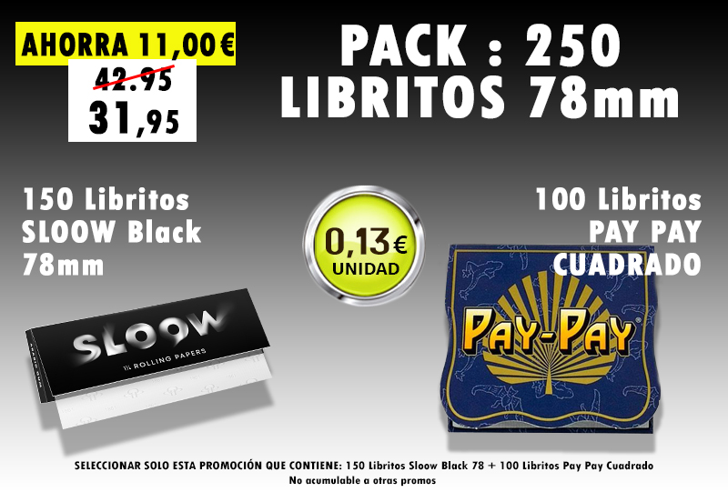 78mm 250 LIBRITOS SLOOW + PAY PAY