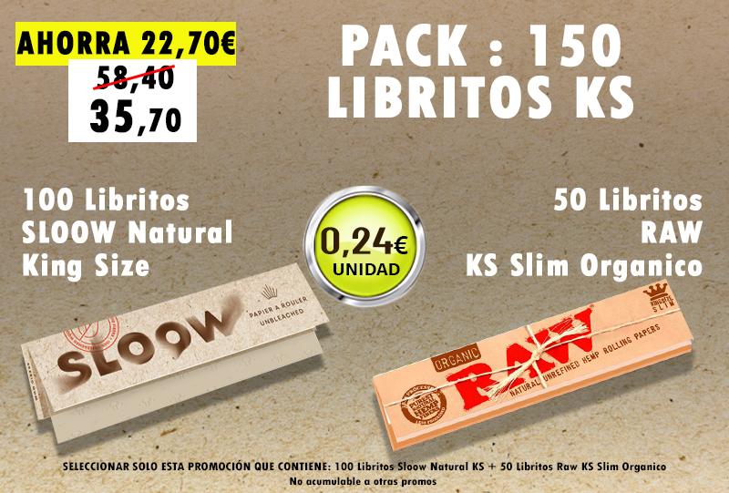 KSN 150 LIBRITOS SLOOW + RAW ORGANICO