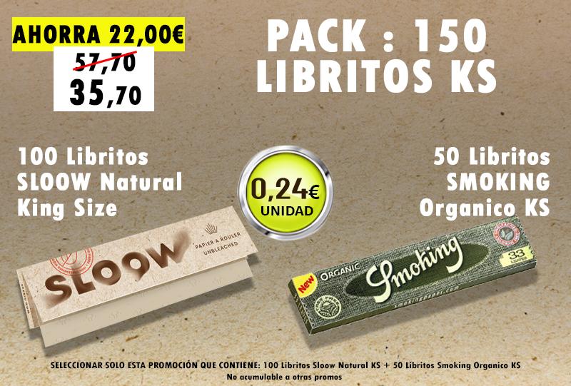 KSN 150 LIBRITOS SLOOW + SMOKING ORGANICO