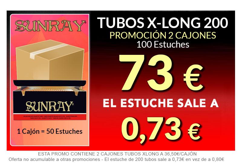 200 X-LONG 2 CAJONES TUBOS  SUNRAY
