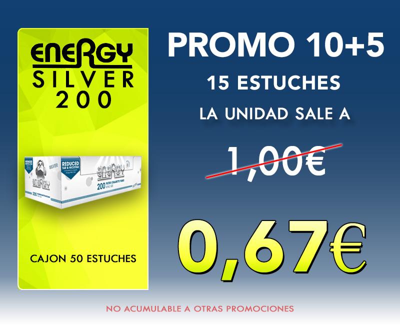 200 TUBOS SILVER ENERGY (15+5)
