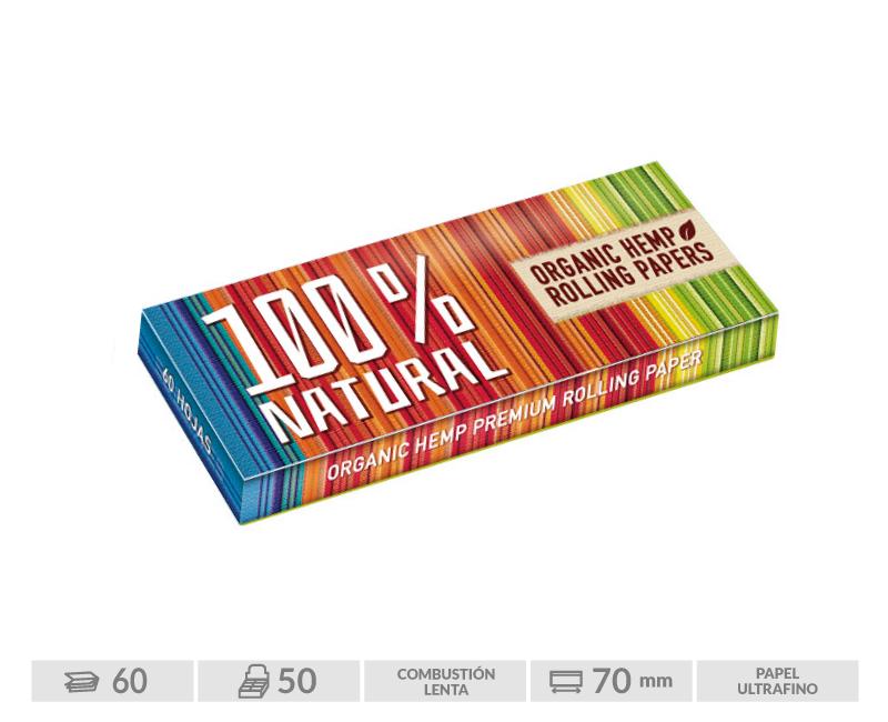 EXP 50 LIBRITOS ENERGY 100% NATURAL 70MM 60 HOJAS