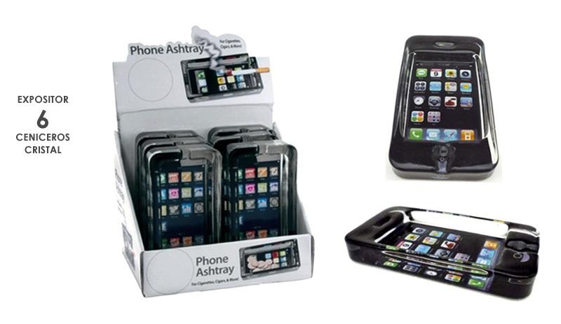 EXP 6 CENICERO CHAMP PHONE GLASS