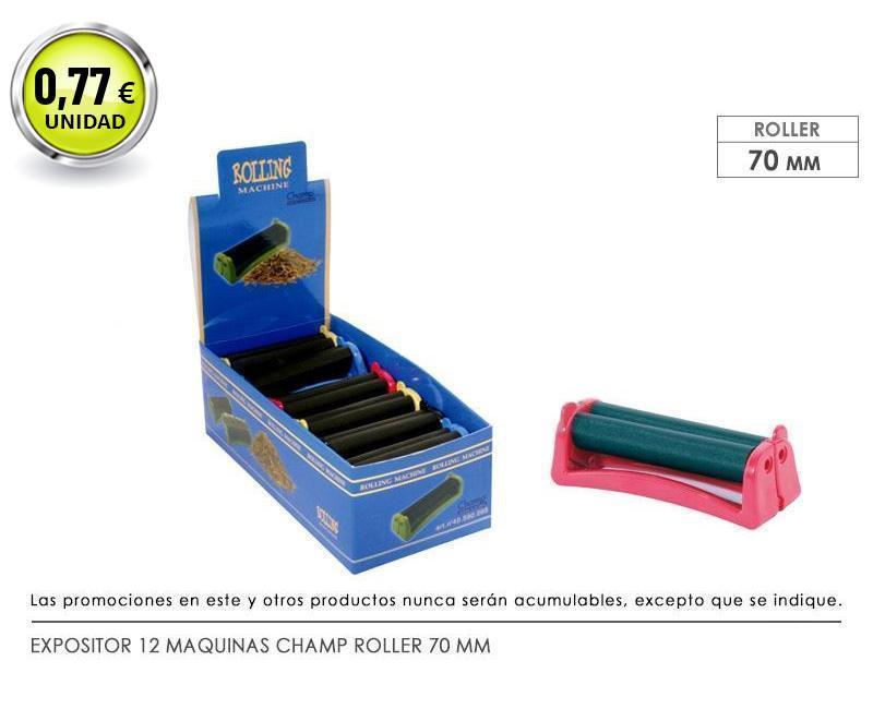 EXP 12 MAQUINAS CHAMP ROLLER 70 MM PLASTICO