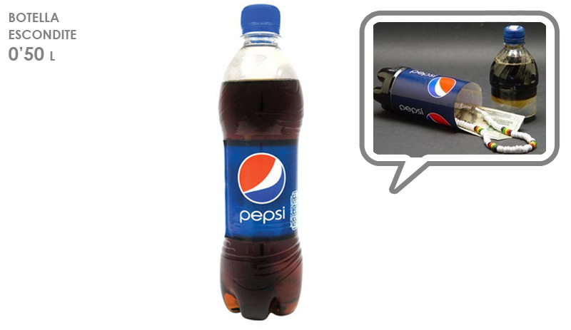 ESCONDITE BOTELLA PEPSI