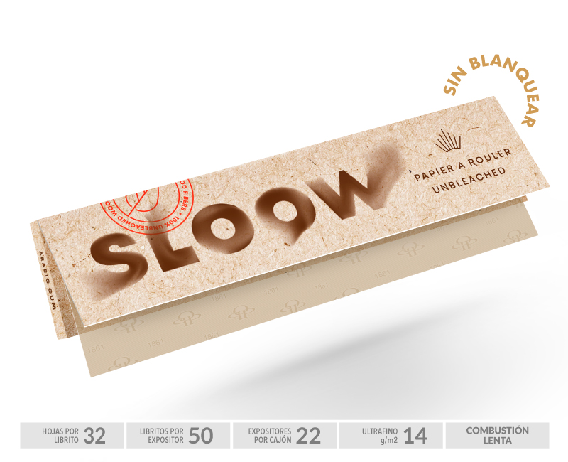 SLOOW EXP 50  NATURAL KS BOOKLETS 14gr-32Hojas