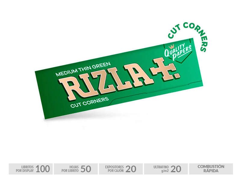 EXP 100 RIZLA GREEN  70mm