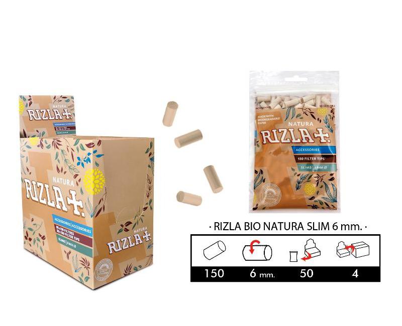 EXP 50 RIZLA FILTROS BIO NATURA SLIM 6MM/50 BAGS