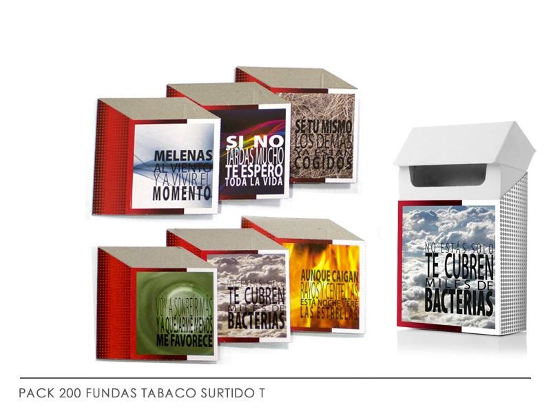 PACK 200 FUNDAS TABACO MLO. T
