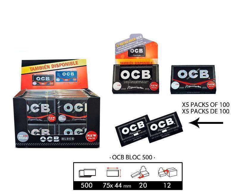 EXP 20 OCB PREMIUM BLOCK 500