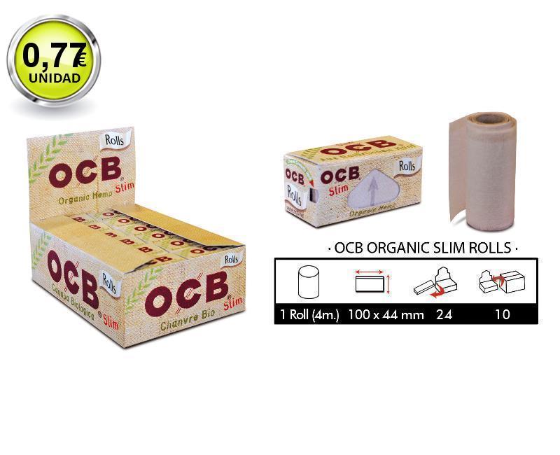 EXP 24 OCB CAÑAMO ORGANICO SLIM ROLLS