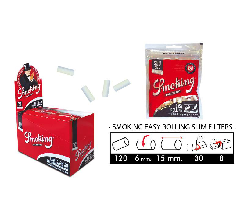 EXP 30 SMK EASY ROLLING SLIM FILTERS
